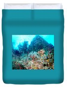 Coral Pyramid Duvet Cover
