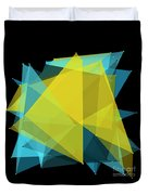 Coral Reef Polygon Pattern Duvet Cover