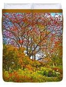 Flame Tree Duvet Cover