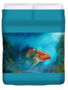 Coral Trout Duvet Cover