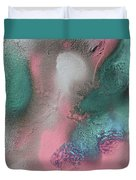 Coral, Turquoise, Teal Duvet Cover by Julia Fine Art