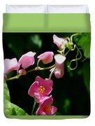 Coral Vine Flower Duvet Cover