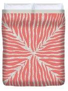 Coral Zebra 2 Duvet Cover