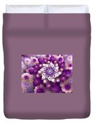 Coraled Blooms Duvet Cover