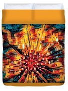 Corals Under The Sea Abstract Color Art Duvet Cover