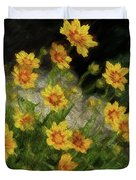 Coreopsis Tickseed Duvet Cover