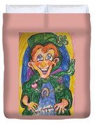 Corey The Lepperchaun Lucky Charms Duvet Cover