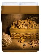 Cork And Basket 3 Duvet Cover