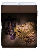 Cork And Basket And Lamp Duvet Cover