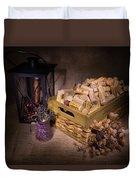 Cork Basket Candle Lamp Duvet Cover