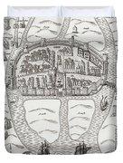Cork, County Cork, Ireland In 1633 Duvet Cover