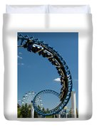 Cork-screw Rollercoaster And Ferris-wheel Duvet Cover