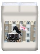 Cormorant Adult Phalacrocorax Carbo Duvet Cover