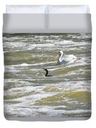 Cormorant And Pelican Duvet Cover