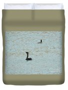 Cormorants On The Lake Duvet Cover