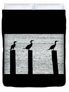 Cormorants Port Jefferson New York Duvet Cover