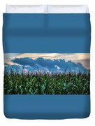 Corn And Clouds Panorama Duvet Cover