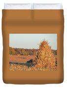 Corn At Harvest Duvet Cover