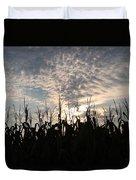 Corn At Sunrise Duvet Cover