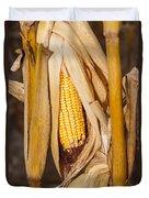 Corn Cobb On Stalk Duvet Cover
