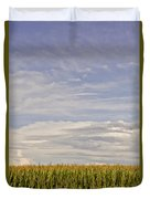 Corn Field In Sunset II Duvet Cover
