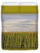 Corn Field In Sunset Duvet Cover