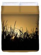 Corn Field Sunrise Duvet Cover