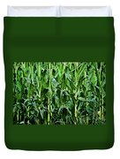 Corn Field's First Row Duvet Cover