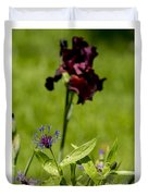 Corn Flower With A Friend Visiting Duvet Cover