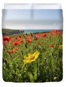 Corn Marigold And Poppies Duvet Cover