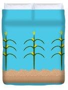 Corn Rows Duvet Cover
