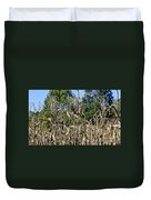 Corn Stalks Drying Duvet Cover