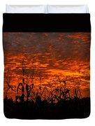 Corn Under A Fiery Sky Duvet Cover