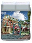 Corner Cafe Main Street Disneyland 01 Duvet Cover
