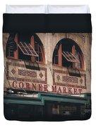 Corner Market Pikes Place Market Duvet Cover