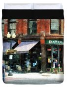 Corner Of Columbia And Pearl Albany Ny Duvet Cover