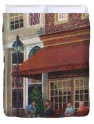 Corner Restaurant Duvet Cover
