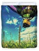 Cornfield View Hot Air Balloons Duvet Cover by Bob Orsillo