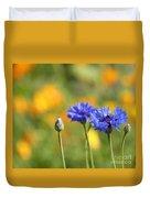 Cornflowers -1- Duvet Cover by Issabild -