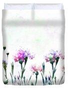 Cornflowers Watercolor  Duvet Cover