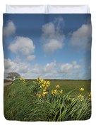 Cornish Daffodil Hedge Duvet Cover