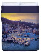Cornish Fishing Village Duvet Cover by Paul Gulliver