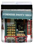 Cornish Pasty Shop Duvet Cover