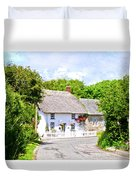 Cornish Thatched Cottage Duvet Cover