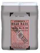Corona Road Race 1914 Duvet Cover
