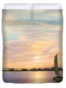 Coronado Bridge Sunset  B Duvet Cover