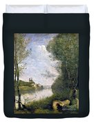 Corot: Cathedral, C1855-60 Duvet Cover