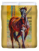 Corral Boss - Mustang Duvet Cover