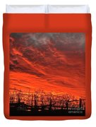 Corral Sunset Duvet Cover