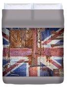 Corrugated Iron United Kingdom Flag Duvet Cover